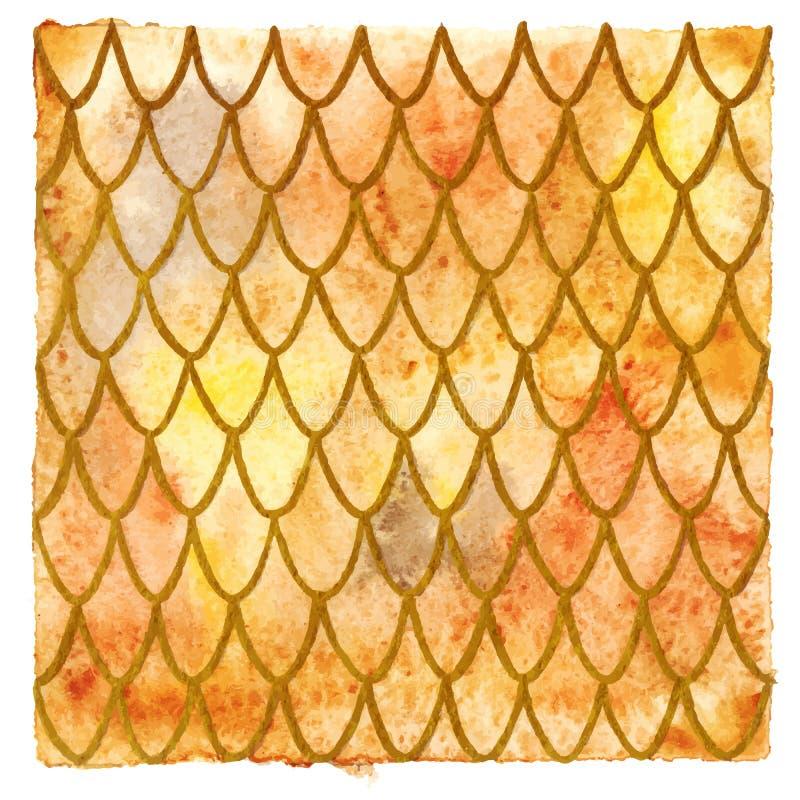De oranje achtergrond van de draakhuid royalty-vrije illustratie