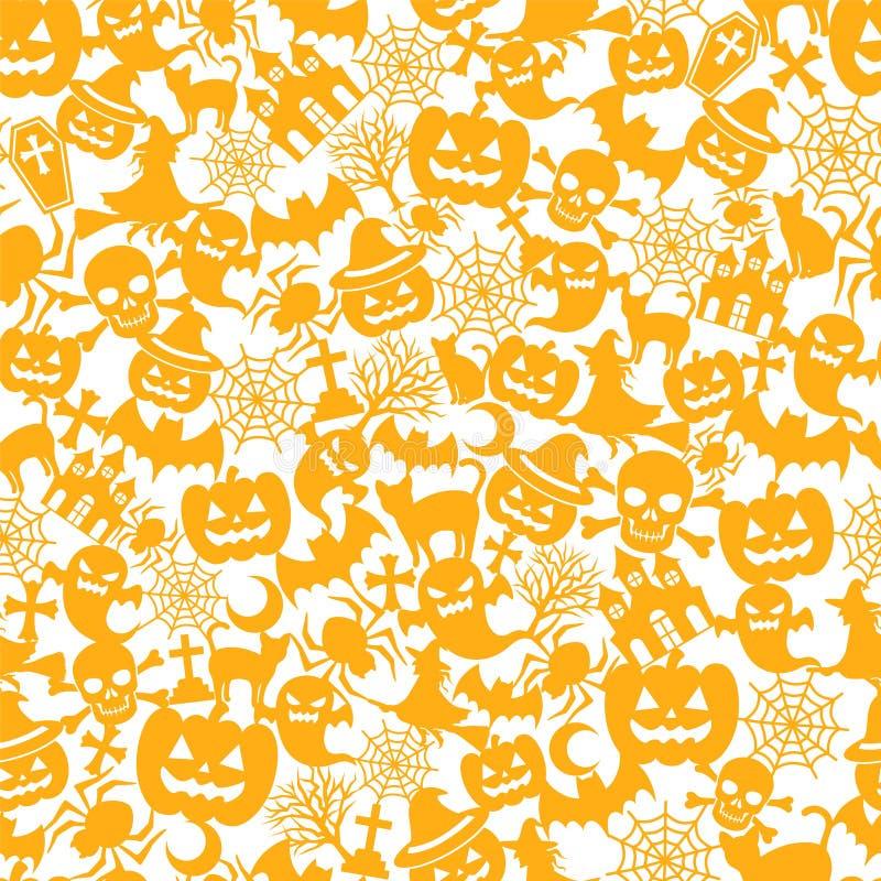 De oranje achtergrond van Halloween royalty-vrije illustratie