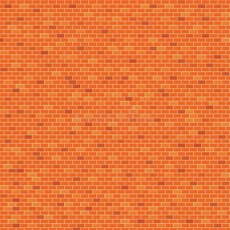 De oranje Achtergrond van het bakstenen muurpatroon stock illustratie