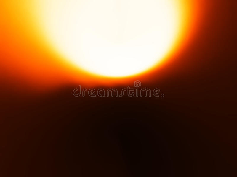 De oranje achtergrond van het zongebied bokeh royalty-vrije stock afbeeldingen