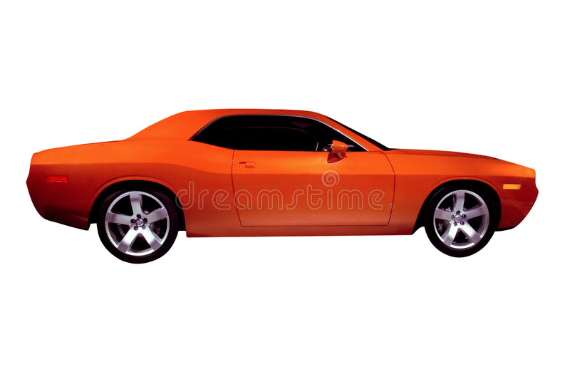 De oranje Auto van de Spier stock afbeeldingen