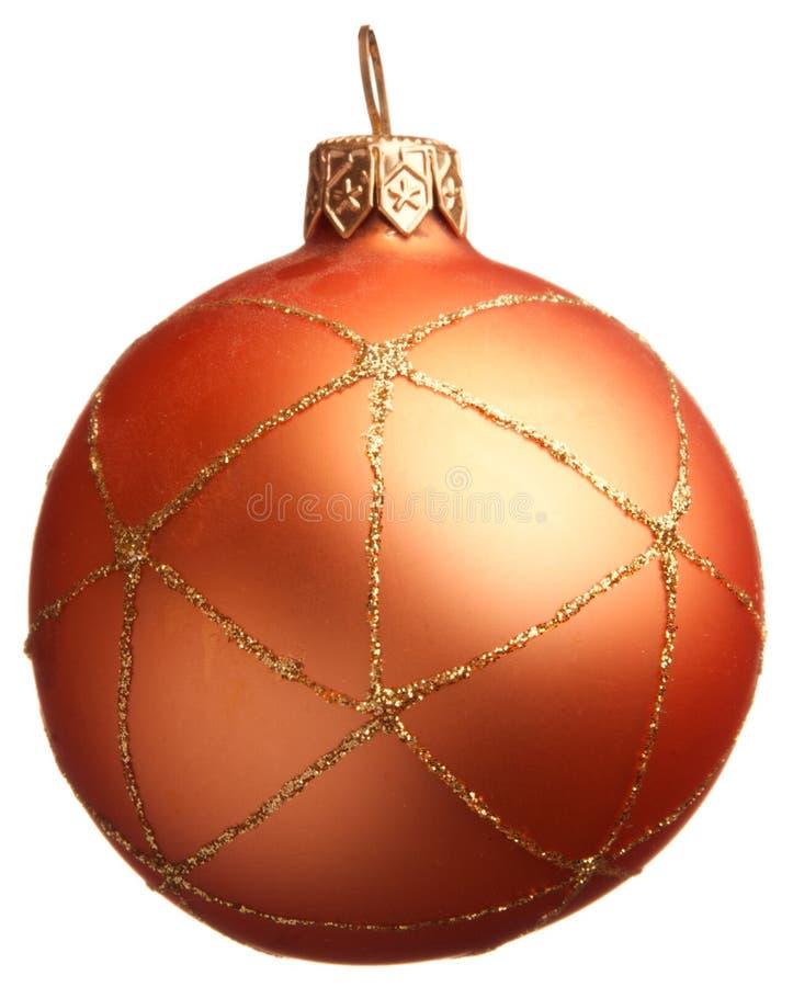 De oranje bal van Kerstmis stock fotografie