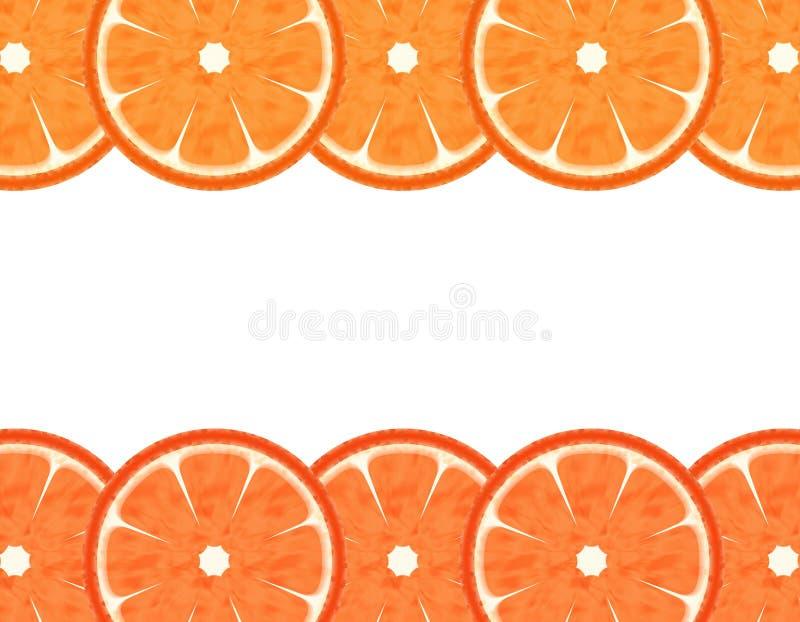 De Oranje grens van de plak stock illustratie