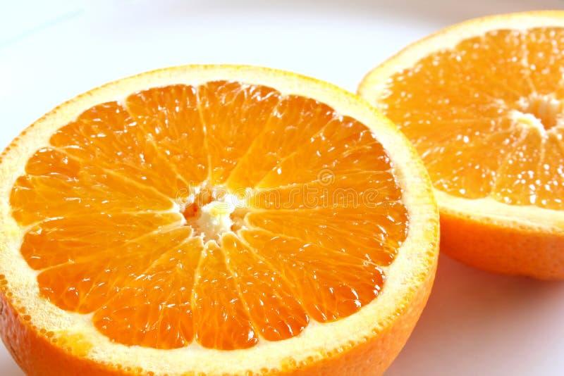 De oranje helften royalty-vrije stock afbeelding