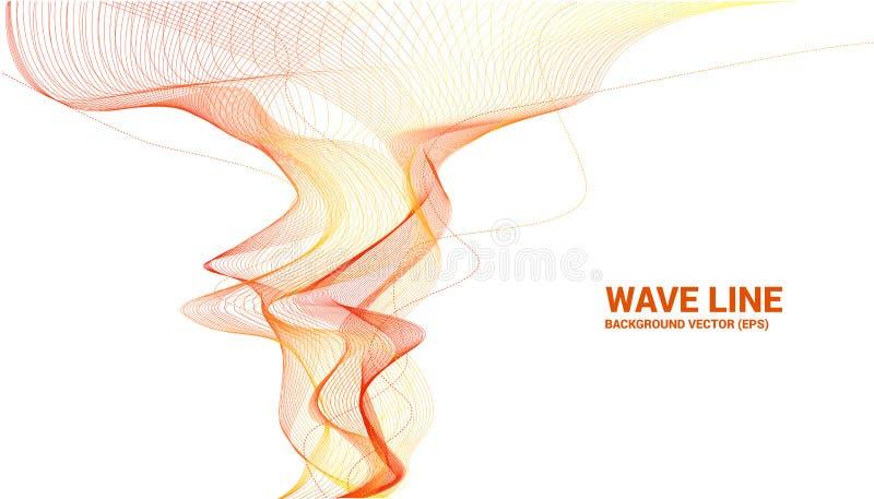 De oranje kromme van de Correcte golflijn op witte achtergrond vector illustratie