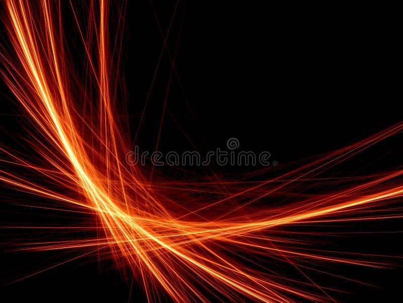 De oranje lijn van de energie stock illustratie