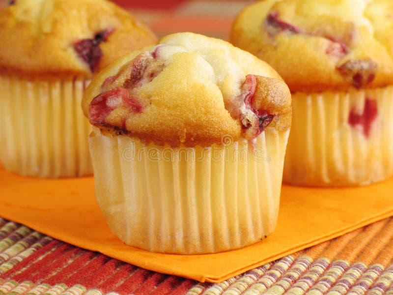 De Oranje Muffins van de Amerikaanse veenbes stock fotografie