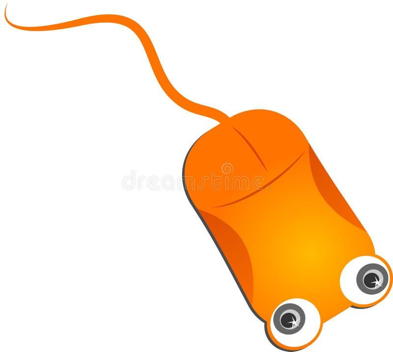 De Oranje Muis Van De Computer Stock Afbeeldingen