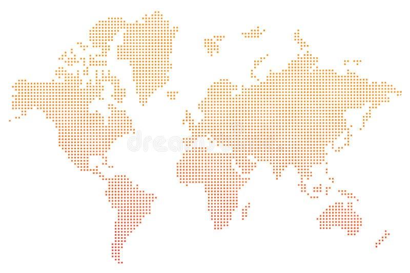 De oranje punten van de wereldkaart  vector illustratie
