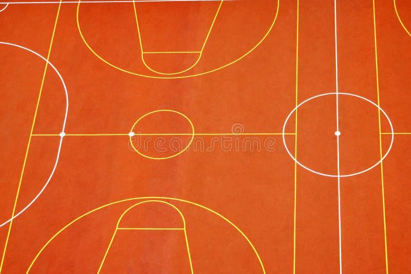 De oranje sportengrond stock afbeeldingen