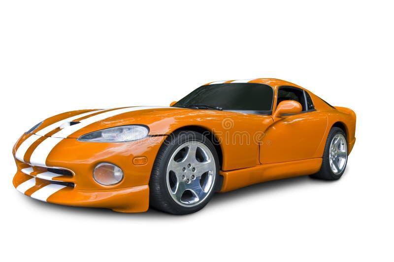 De oranje Sportwagen van de Adder van de Zijsprong stock afbeeldingen