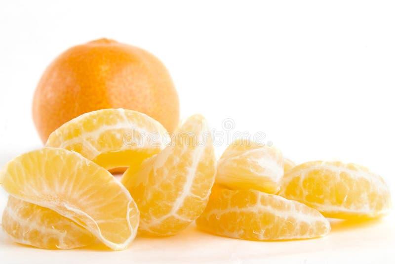 De oranje Stapel van de Plak stock fotografie