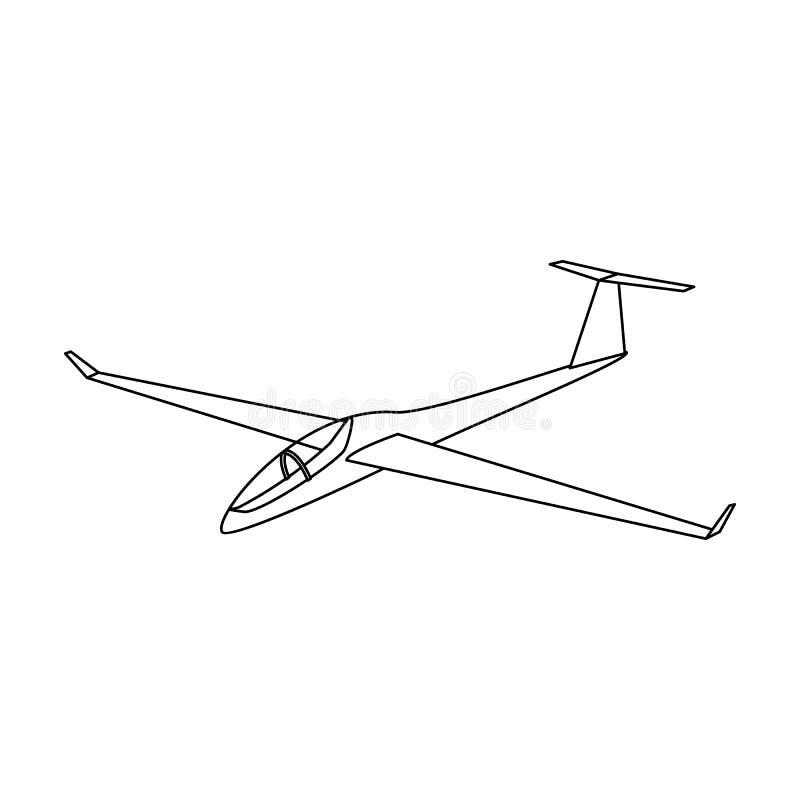 De oranje vechter Hoge snelheidsvliegtuig voor één persoon stock illustratie