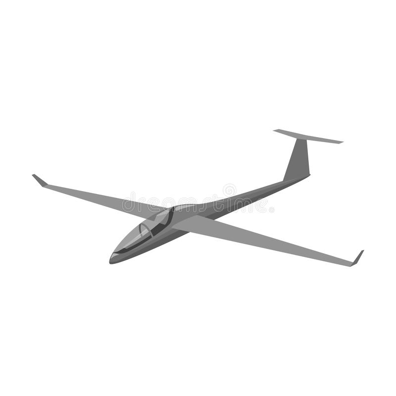 De oranje vechter Hoge snelheidsvliegtuig voor één persoon Vervoer enig pictogram in de zwart-wit voorraad van het stijl vectorsy vector illustratie