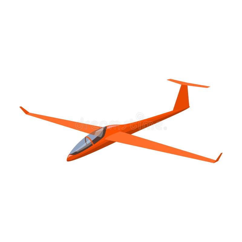 De oranje vechter Hoge snelheidsvliegtuig voor één persoon Vervoer enig pictogram in vector het symboolvoorraad van de beeldverha vector illustratie