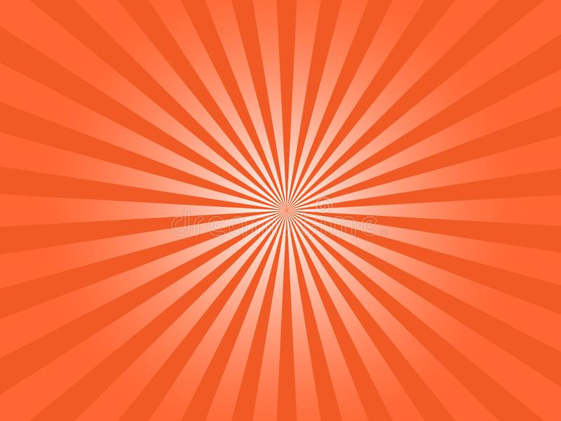 De oranje Zonstralen barsten Abstracte Vectorafbeeldingen vector illustratie