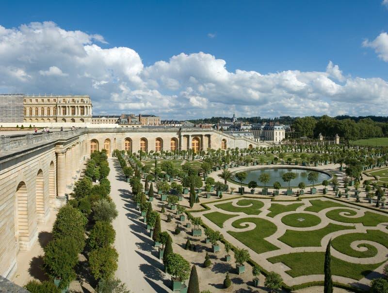 De oranjerie in het kasteel van Versailles stock foto's