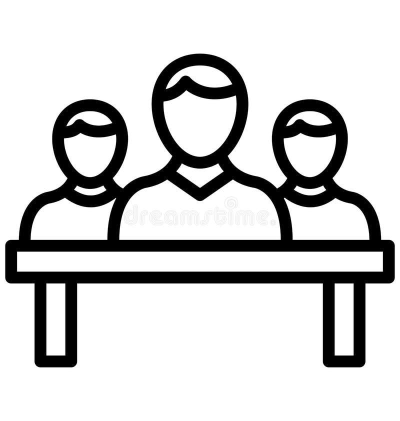 De organisatie isoleerde Vectorpictogram dat zich gemakkelijk kan wijzigen of uitgeven stock illustratie
