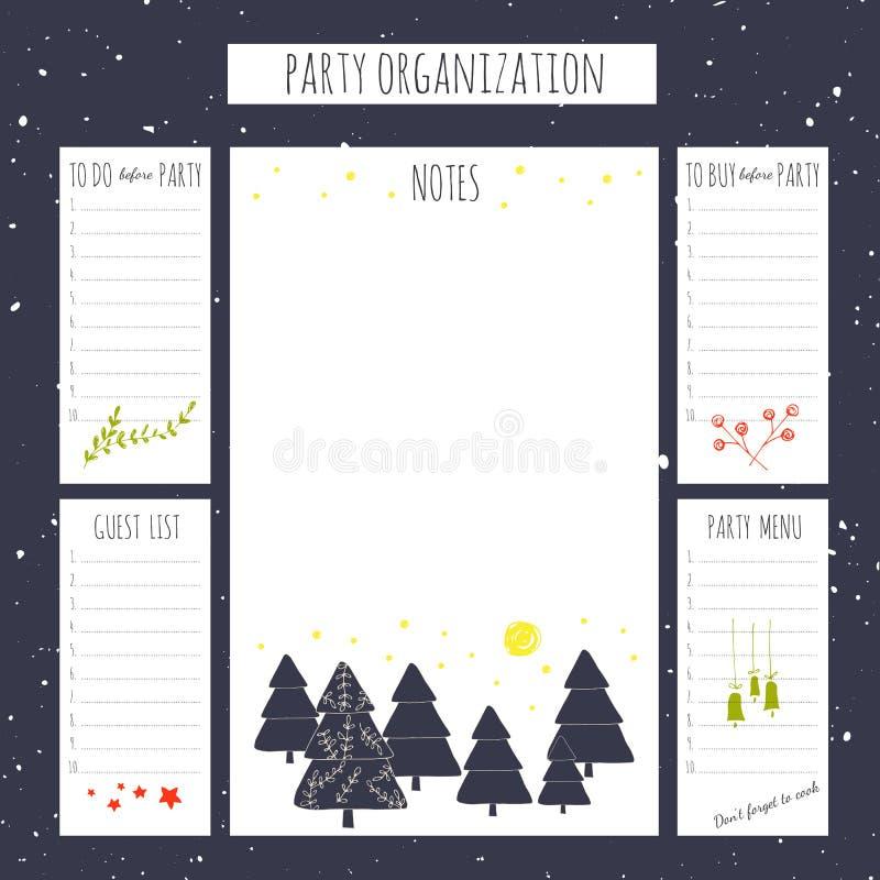 De organisatie van de Kerstmispartij vector illustratie