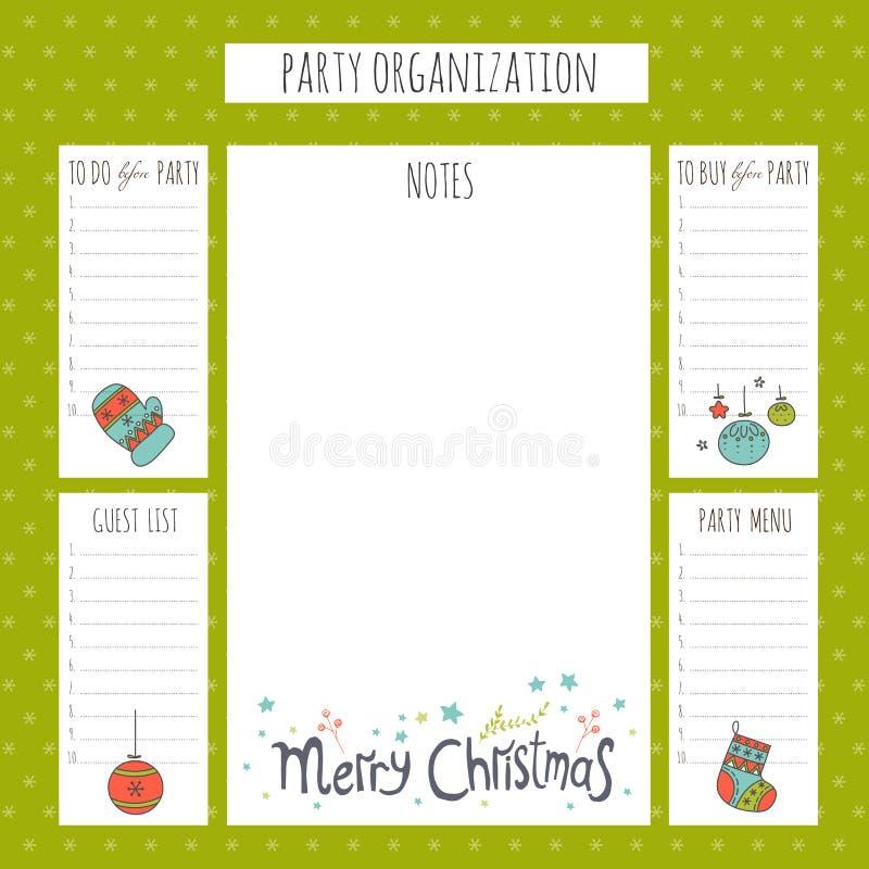 De organisatie van de Kerstmispartij stock illustratie