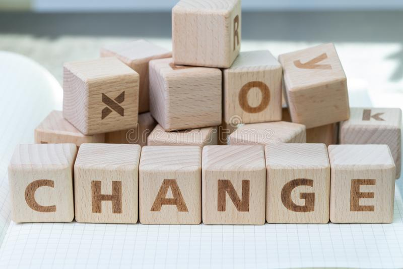 De organisatieverandering, bedrijfstransformatie, verstoring of evolueert mede stock foto's