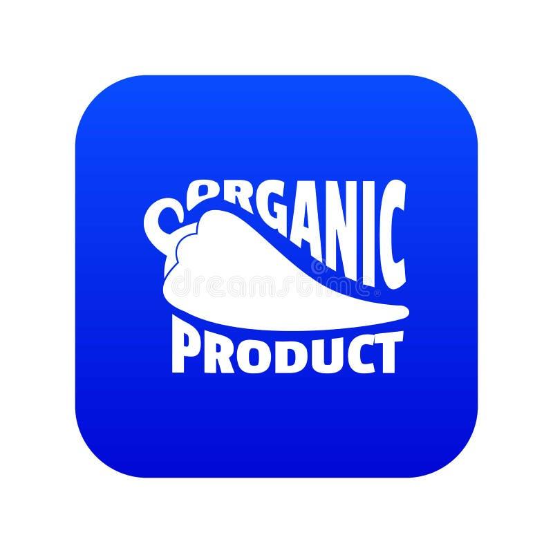 De organische bio blauwe vector van het productpictogram vector illustratie