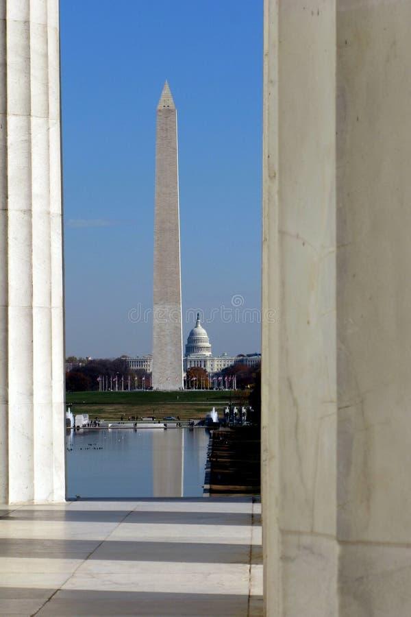 De Oriëntatiepunten van het Washington DC stock afbeeldingen