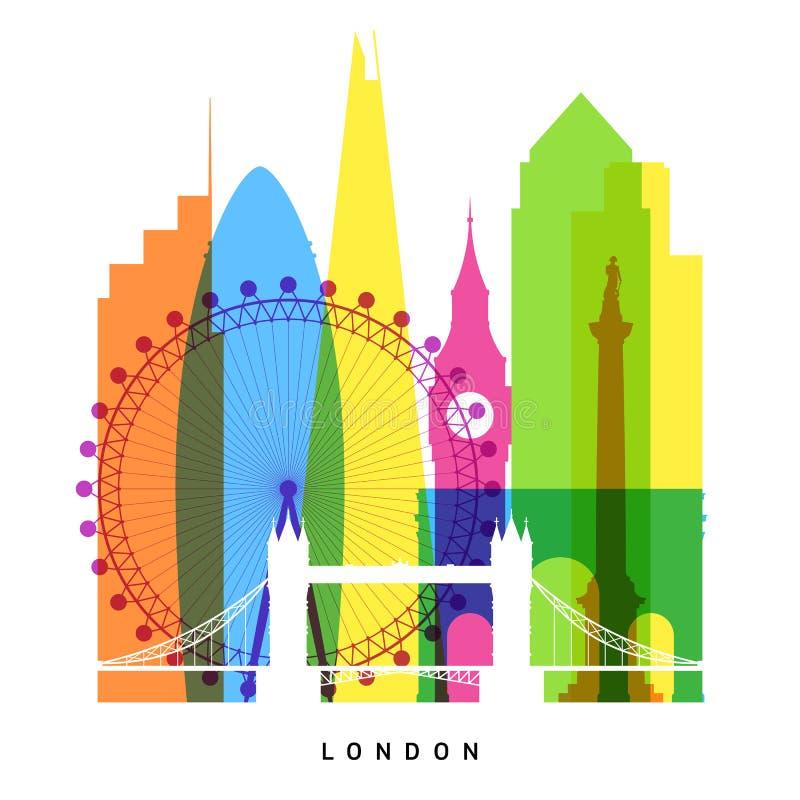 De oriëntatiepunten van Londen vector illustratie