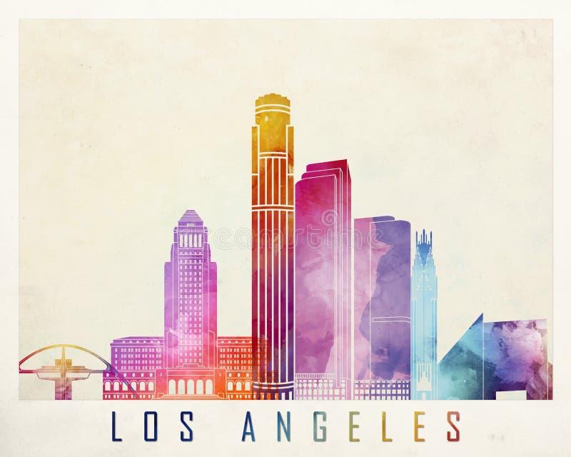 De oriëntatiepunten van Los Angeles royalty-vrije illustratie