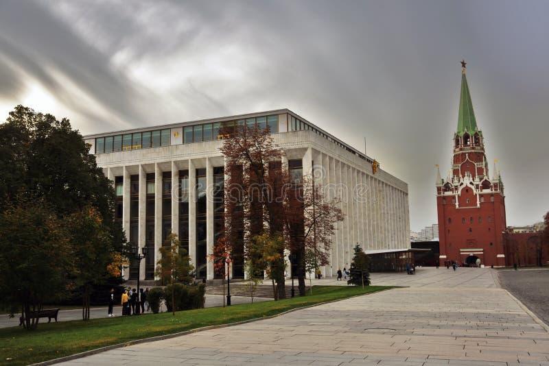 De oriëntatiepunten van Moskou het Kremlin De Plaats van de Erfenis van de Wereld van Unesco royalty-vrije stock fotografie
