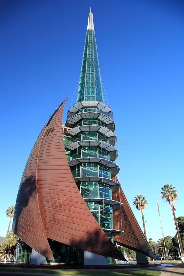 De Oriëntatiepunten van Perth, de Klokken van de Zwaan stock fotografie