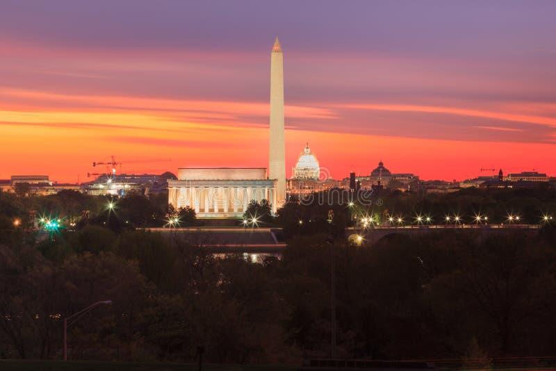 De Oriëntatiepunten van Washington DCmonumenten royalty-vrije stock foto
