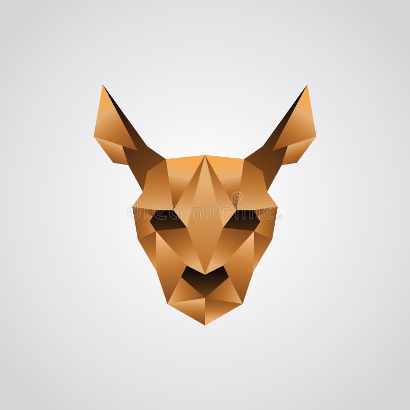 De origami van het kangoeroegezicht