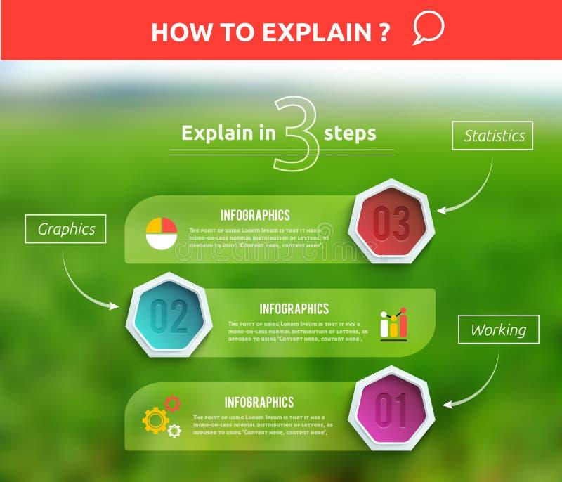 De origamistijl van de bedrijfsinfographicsbanner vector illustratie
