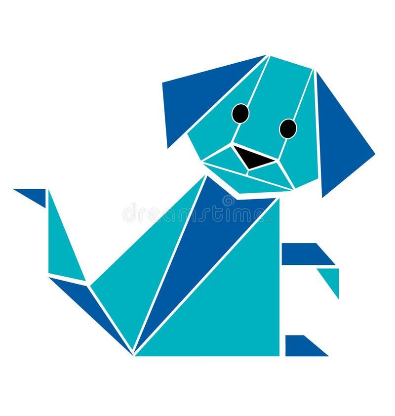 De origamistijl van de hond vector illustratie