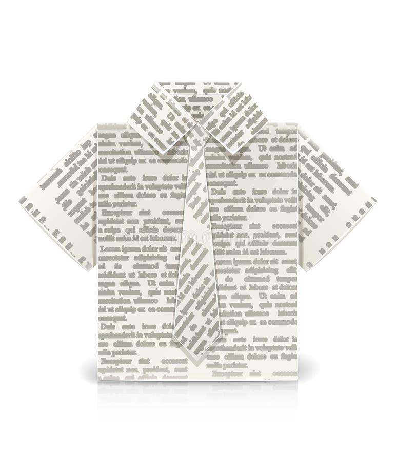 De origamistuk speelgoed van het overhemd vector illustratie