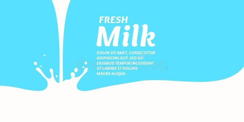 De origineel conceptenaffiche om melk te adverteren stock illustratie