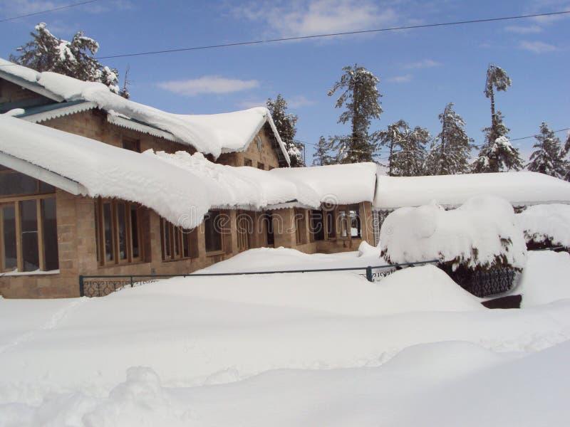 De originele foto van het sneeuwbeeld stock afbeelding