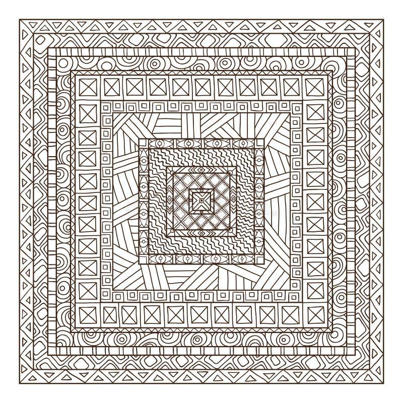 De originele rechthoek van tekenings stammendoddle. royalty-vrije illustratie