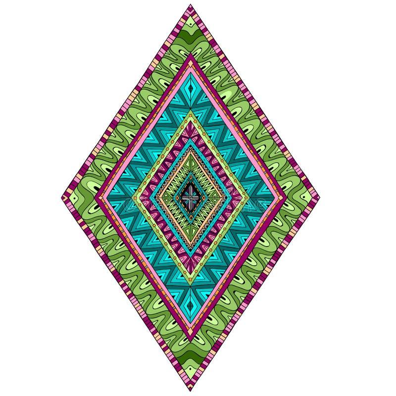 De originele ruit van tekenings etnische stammendoddle stock illustratie