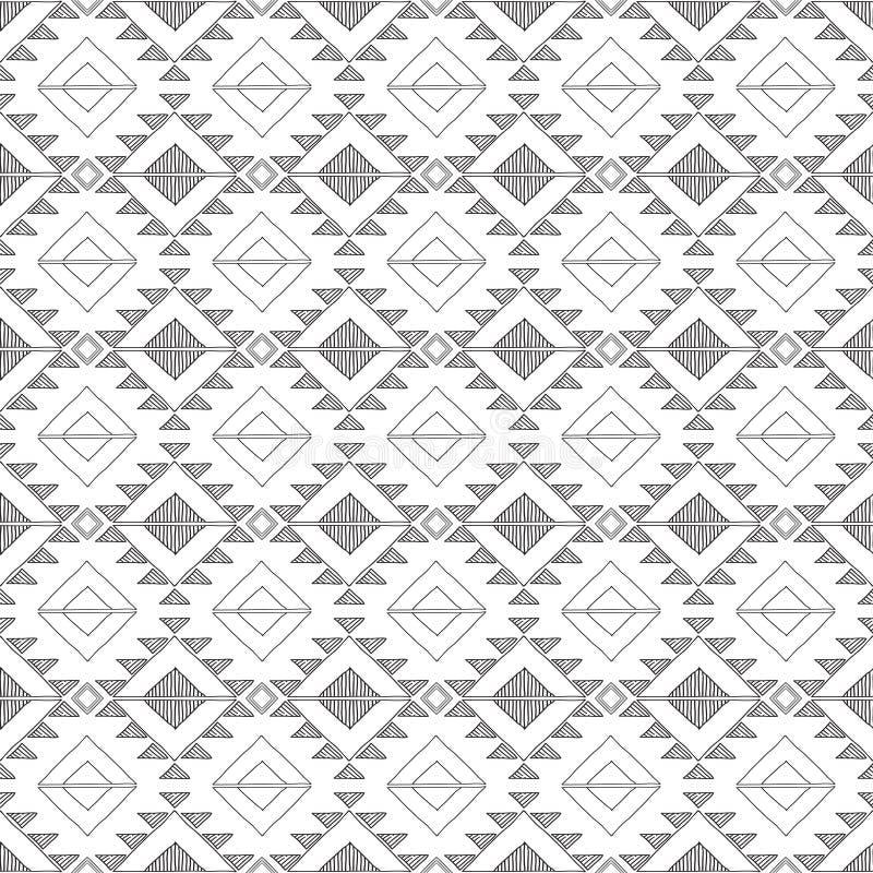 De originele ruit van tekenings stammendoddle vector illustratie