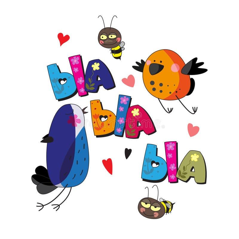 De originele spelling van uitdrukkings` bla-bla-bla ` stock illustratie