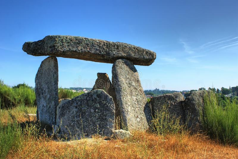 De Orka em Gouveia van dolmenpedra DA royalty-vrije stock afbeelding