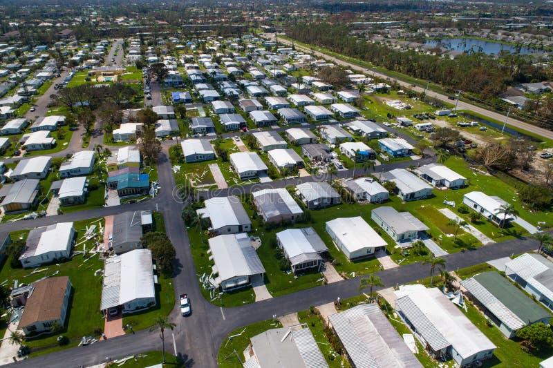 De Orkaan Irma Naples Florida de V.S. van de puinnasleep stock afbeeldingen