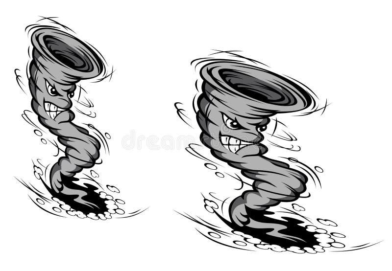 De orkaan van het beeldverhaal stock illustratie