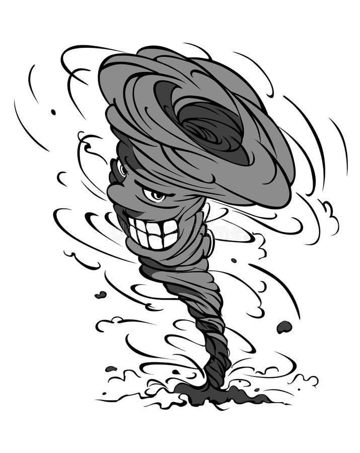 De orkaan van het gevaar royalty-vrije illustratie
