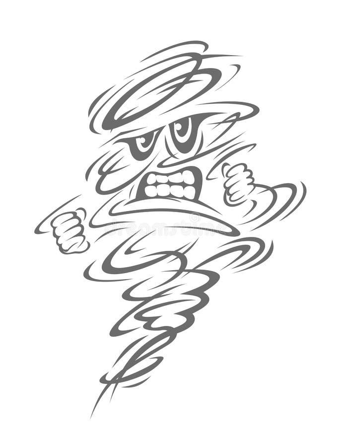 De orkaan van het gevaar stock illustratie