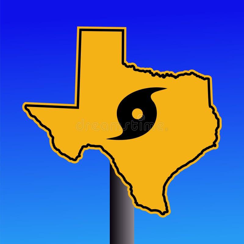 De orkaanwaarschuwingssein van Texas royalty-vrije illustratie