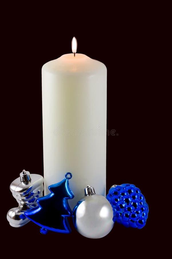 De Ornamenten van de Kaars van Kerstmis stock fotografie