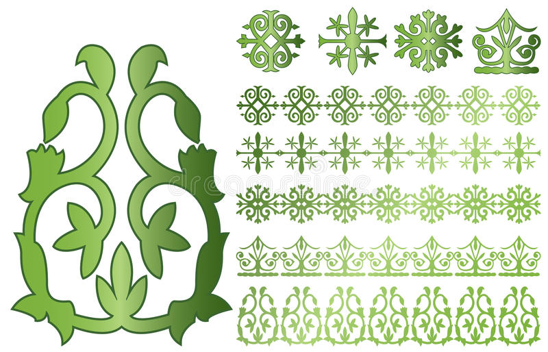 De ornamenten van de Kaukasus stock illustratie